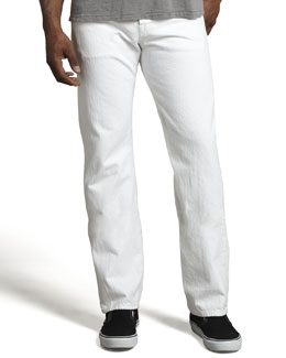 7 For All Mankind Standard Clean White Jeans