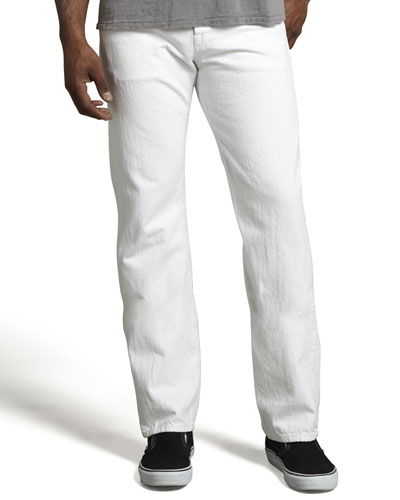 Standard Clean White Jeans