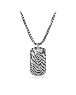 David Yurman Iron Wood Tag Necklace