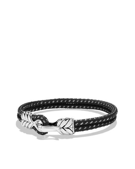 Chevron Two-Row Bracelet in Black