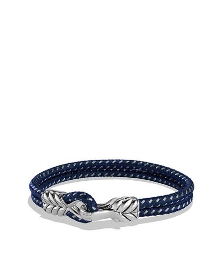 Chevron Two-Row Bracelet in Navy