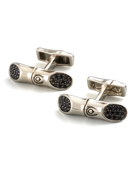 Bamboo Bar Cuff Links