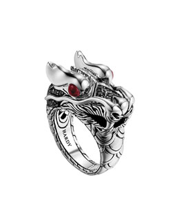 John Hardy Naga Dragon-Head Ring