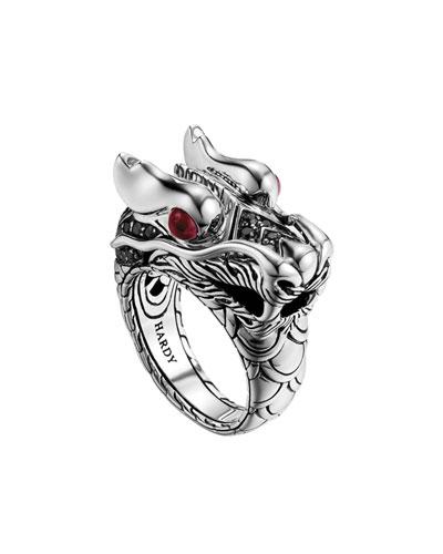 John Hardy Naga Dragon-Head Ring