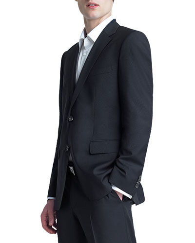 Basic Two-Button Suit, Black
