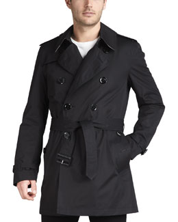 Burberry Brit Short Cotton Trenchcoat