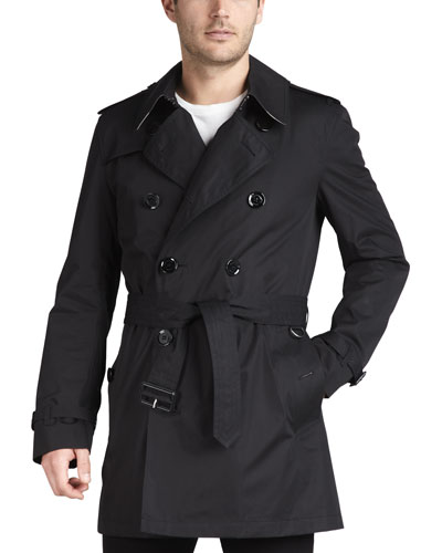 Short Cotton Trenchcoat