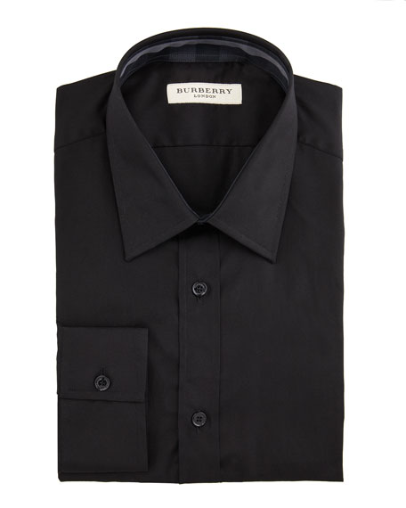 Classic-Fit Dress Shirt, Black