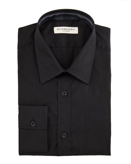 Classic-Fit Dress Shirt, Black