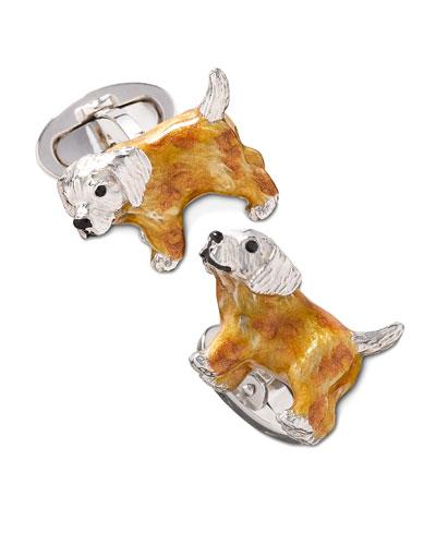 Jan Leslie Puppy Cuff Links