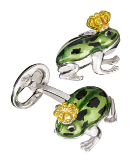 Jan Leslie Frog Prince Cuff Links