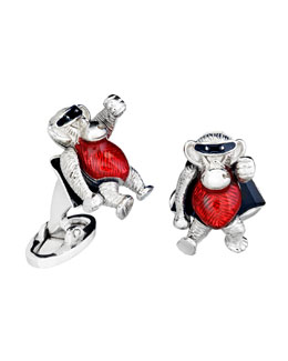 Jan Leslie Superhero Monkey Cuff Links