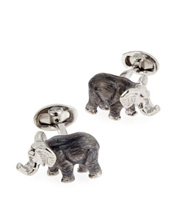 Jan Leslie Elephant Cuff Links