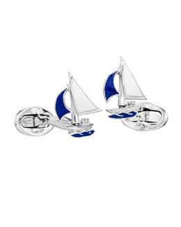 Jan Leslie Sailboat Cuff Links