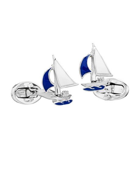 Jan Leslie Sailboat Cuff Links