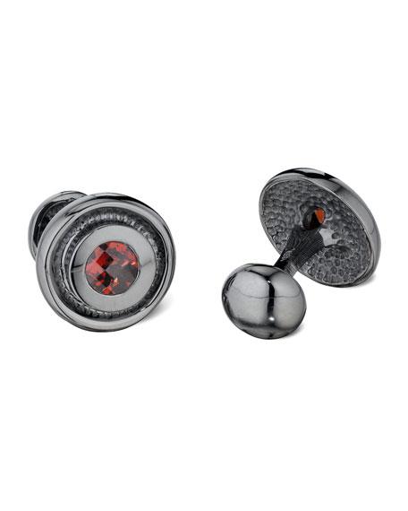Garnet Bearing Cuff Links