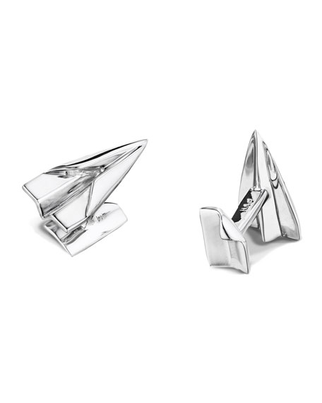 Paper Airplane Cuff Links