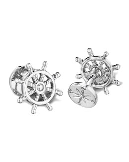 Robin Rotenier Ship Wheel & Compass Cuff Links