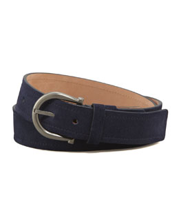 Salvatore Ferragamo Royal Suede Gancini Belt