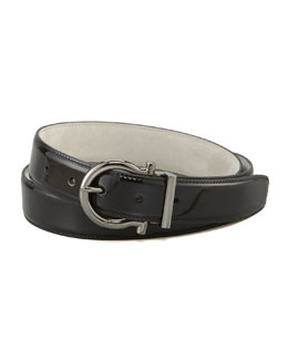 Salvatore Ferragamo Patent Leather Belt
