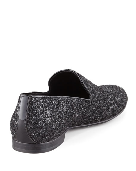 Sloane Glitter Slipper, Black
