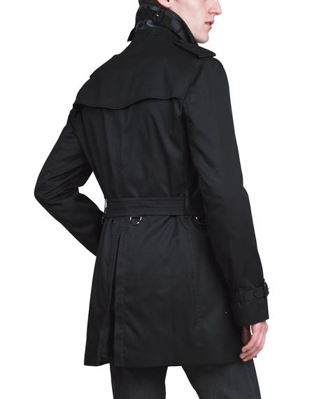Poly-Cotton Trenchcoat, Black