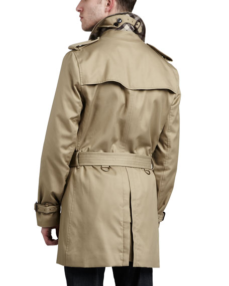 Single-Breasted Poly-Cotton Trenchcoat, Fallow