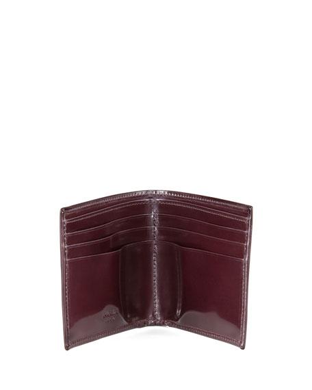 Spazzolato Leather Hip-Fold, Cordovan