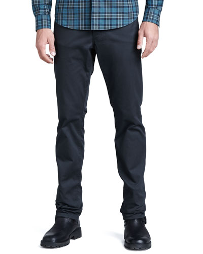Theory Slim Twill Pants, Deep Raven