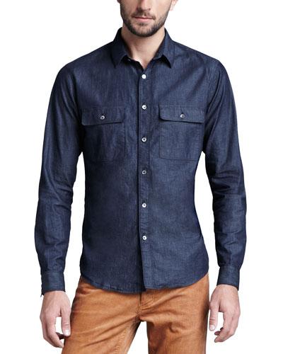 Theory Soft-Wash Chambray Shirt