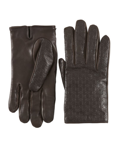 Gucci Men's Gloves, Brown