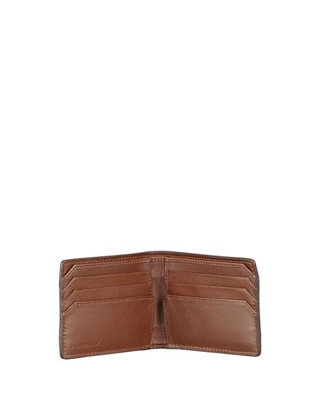 London Leather Wallet, Mushroom