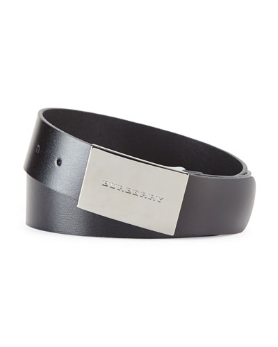 Logo-Buckle Belt, Black