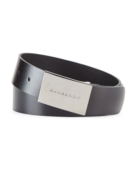 BELT W/ LOGO BUCKLE, BLK