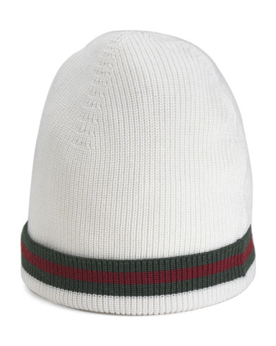 Crook Knit Hat, White