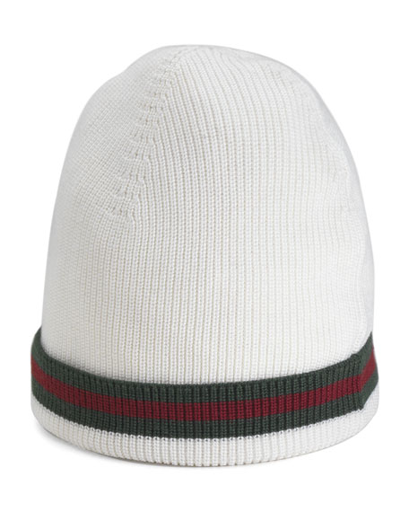 Gucci Knit Hat in White for Men | Lyst |White Gucci Hat