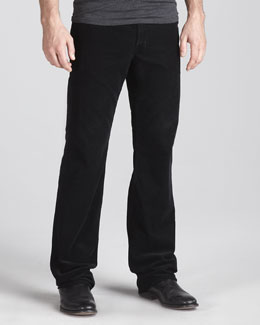 AG Adriano Goldschmied Protege Corduroy Pants, Super Black