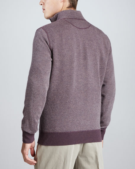 Roadster Half-Zip Cashmere Sweater, Vineyard Wine