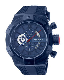 Brera 48mm Supersportivo Watch, Navy