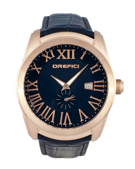 Orefici Watches Classico Watch, Navy