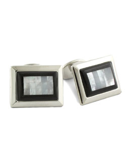 David Donahue Tile Cuff Links, Black