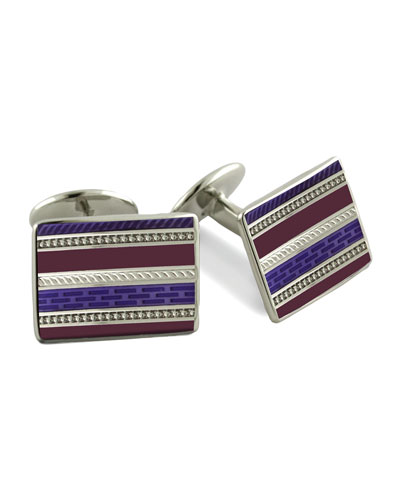 David Donahue Multi-Stripe Cuff Links