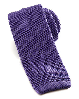 Charvet Knit Silk Tie, Lilac