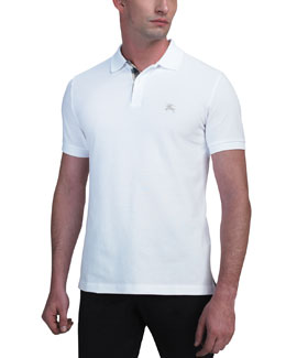 Burberry Brit Modern-Fit Logo Polo, White