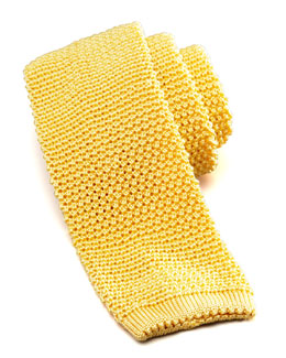 Charvet Knit Silk Tie, Yellow