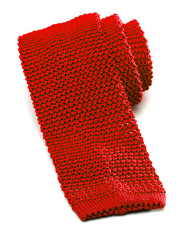 Charvet Knit Silk Tie, Red