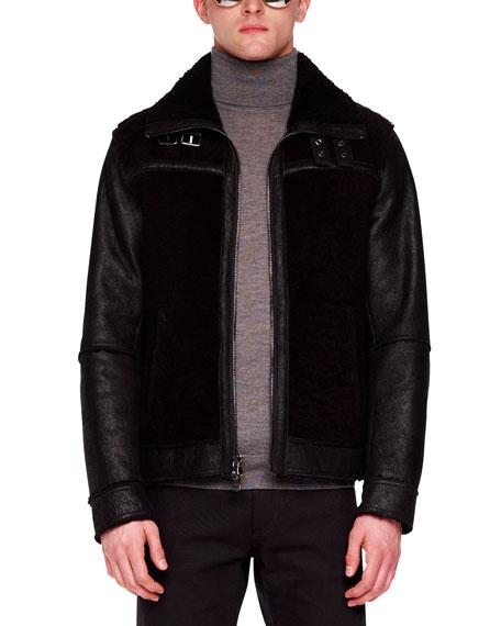 Shearling Racer Jacket
