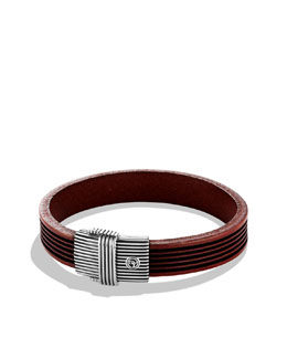 David Yurman Royal Cord ID Bracelet in Brown