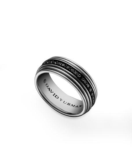 Royal Cord Ring, Pave Black Diamonds