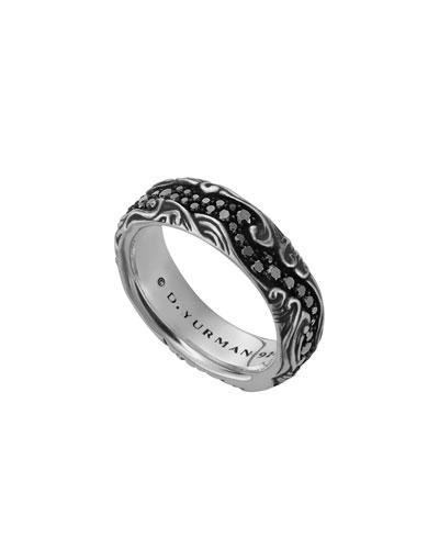 David Yurman Waves Band Ring, 7mm